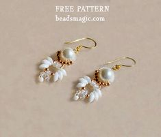 Seed Bead Tutorial ~ free pattern for Paloma Earrings