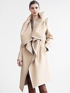 Avant-Garde-MAISON-MARTIN-MARGIELA-Oversized-Shawl-Collar-Cashmere-Blanket-Coat