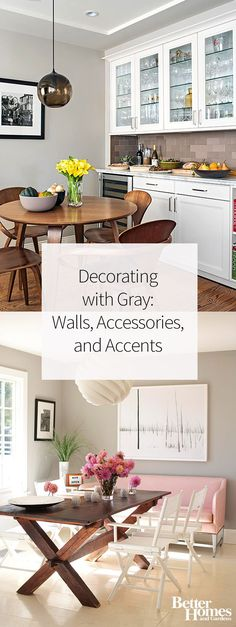 Gray is a versatile paint color you can use on the walls in a living room, bedroom, bathroom, and more. We love the idea of not only using gray paint, but also using this neutral color in your home decor, like on a couch and other furniture too.