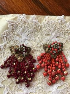 Pair Miriam Haskell Dress Clips 1930's