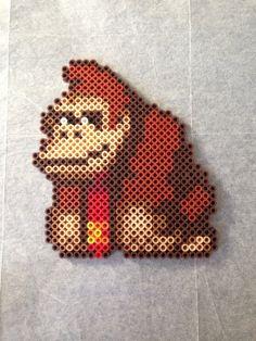 Donkey Kong Perler Bead Design by RatedEforEveryone on Etsy, $7.00
