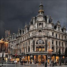 Antwerp at dusk, Belgium
