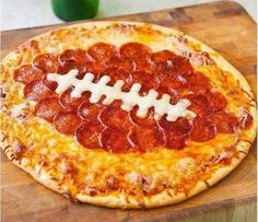 """Football Pizza...what more could 1 ask for when watching """"the game"""""""