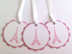 Eiffel Tower Gift Tags  French Tags  Parisian To by MyPrettyPaper