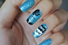 Pedophelic swingset nail art for the Fault in Our Stars! LOVE THIS SOOOOOOOO MUCH