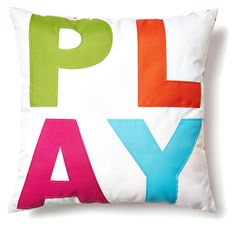 Check out this item at One Kings Lane! Patio Pillows, Outdoor Pillow, Throw Pillows, Colorful Pillows, One Kings Lane, Home Decor Accessories, Play, Blanket, Fun