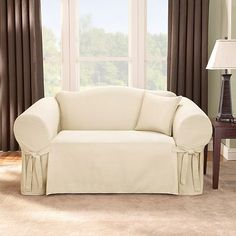 I need to slip cover my sofa, loveseat and recliner.  I always fear white because of the cats and the 9 year old, but I love it... Armchair Slipcover, Sofa Couch, Couch Set, Slipcovers For Chairs, Best Couch Covers, Best Sofa, Sofa Covers, Bedroom Sofa, Living Room Sofa