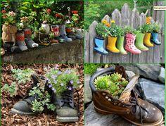 Creative Ideas for old boots Creative Ideas For Garden