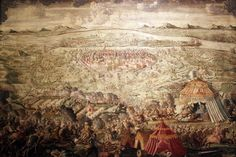 The Polish relief army defends Vienna from Ottoman attack, Sept 12, 1684. The Ottoman army first laid siege on 14 July. The Poles arrived and with the other forces, on Sept 12, defeated the Ottomans. Prince of Savoy's then reconquered Hungary and some Balkan lands. The Ottomans fought  for 16 more years, losing control of Hungary and Transylvania. The Holy Roman Empire signed the Treaty of Karlowitz with the Ottomans in 1699 / via anagoria from wikipedia