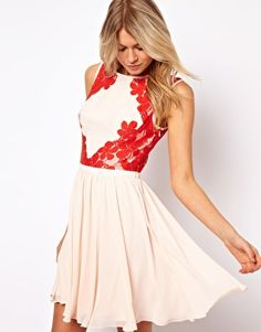 Ted Baker Dress with Lace Detail