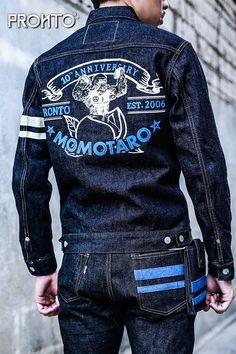 Denim Jacket Fashion, Denim Jacket Men, Bane Jacket, Momotaro Jeans, Denim Ideas, Japanese Denim, Stylish Mens Outfits, Nudie Jeans, Raw Denim