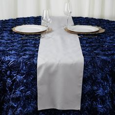 Efavormart of SILVER Polyester Runner - Table Top Wedding Catering Party Decorations - Flower Table Decorations, Wedding Reception Table Decorations, Party Table Decorations, Christmas Table Decorations, Table Flowers, Table Wedding, Quinceanera Decorations, Wedding Spot, Christmas Decor