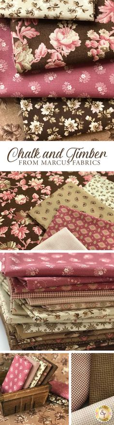 Chalk And Timber by Timeworn Toolbox Designs for Marcus Fabrics is a gorgeous vintage style collection available at Shabby Fabrics. Diy Clothes Vintage, Quilting Projects, Sewing Projects, Fabric Crafts, Sewing Crafts, Shabby Fabrics, Fabric Combinations, Textiles, Fabric Online