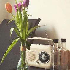 Re-cycling old bottles for vases