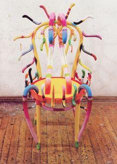 Ida Kohlmeyer Chair Funky Furniture, Furniture For Small Spaces, Furniture Decor, Interior Decorating Styles, Decor Interior Design, Multipurpose Furniture, Miniature Chair, Neutral Walls, Wallpaper Magazine