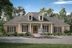 French Country Exterior, French Country House Plans, European House Plans, French Country Style, French Country Decorating, European Style, House Paint Exterior, Exterior House Colors, Exterior Design