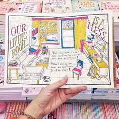Our living room is a mess, cause we live in dorm. В нашей гостиной всегда бардак, т к мы живем в общежитии.  #скетч #скетчбук #дневник #лд #личныйдневник #рисунок #иллюстрация #гостиная #комната #интерьер #дизайн #бардак #sketch #sketchbook #art #design #diary #personaldiary #illustration #drawing #interior #livingroom #sketchzone #sketch_daily #topcreator #mess #china #bookshop #taiwan #arqsketch