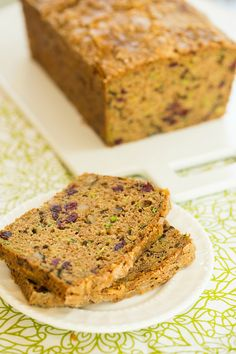 Spiced Zucchini Bread with Dried Cranberries and Walnuts | browneyedbaker.com #recipe