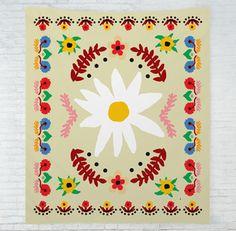 Floral Folk Tapestry