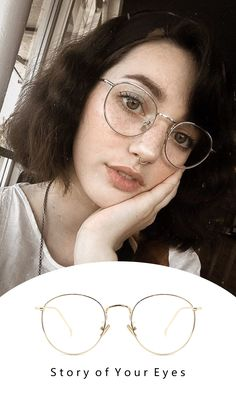 Eyewear Trends 2018 Women NEW Fashion. You may get a new look. Glasses Frames Trendy, Fake Glasses, Cool Glasses, Girls With Glasses, Round Lens Sunglasses, Cute Sunglasses, Sunglasses Women, Glasses Outfit, Fashion Eye Glasses
