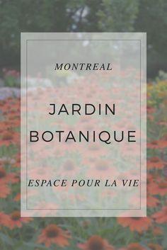 Visite du magnifique jardin botanique de Montréal, qui fait partie de l'Espace pour la Vie