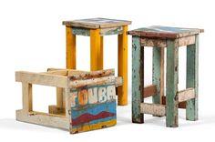 muebles de madera de barca reciclada de artlantique