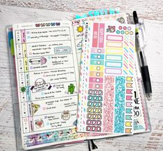 Hobonichi Weeks MONTHLY Kit Watercolor Garden Planner Stickers Hobonichi Techo Weeks