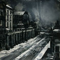 To Be Titled by Mark Thompson - he creates amazingly chilling landscapes with his paintings!