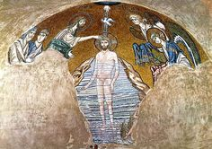 A collection of beautiful century Byzantine mosaics from Daphni Monastery Byzantine Mosaics, Byzantine Art, Byzantine Architecture, Architecture Art, Baptism Of Christ, Mosaic Portrait, Hagia Sophia, 12th Century, Fresco
