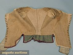 hook and eye closures on silk jacket late 18th century. via Isis' Wardrobe