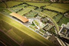the curragh horse racecourse in ireland by grimshaw architects + newenham mulligan & associates