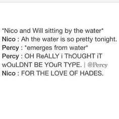 percy, you really need to stop