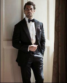 david gandy tuxedo mens street styls