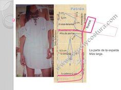 Patrón y costura nos muestra la sencillez de realizar una camisola, ideal para la estación estival.                CamisolaMaterial 1 m en batista en tejido doble ancho 1,60 m, 1,5 m co