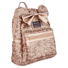 731d2bcee0 Minnie Mouse Sequined Mini Backpack by Loungefly - Rose Gold