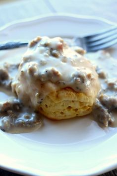 Instant pot sausage gravy--country style gravy made with ground sausage and diced bacon Slow Cooker Meat Recipes, Pressure Cooker Recipes, Sausage Recipes, Pressure Cooking, Cooking Recipes, Slow Cooking, Fastfood Recipes, Cooking Ribs, Cooking School