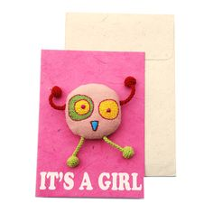 Postkarte It's A Girl von Janske Megens