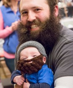 Crocheted Lumberjack Beard Baby Infant Toddler by MiniToppers Love this pic!