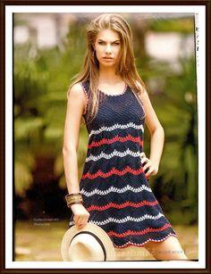 Idéias para crochetar: Vestido em Crochê . Esse modelo faz parte da nova revista da Círculo, que está maravilhosa, cheia de nova...
