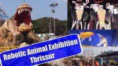 Thrissur Exhibition 2017   Jurassic & Robotic Animals Exhibition   Kerala #roboticanimal #thrissurexhibition #kidsvlog