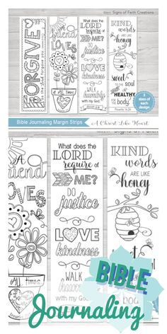 Focus on your faith with these Bible journaling al coloring margins. Instant download, so print, trace, and get creative. #affiliatelink #download #biblejournaling #biblejournalcommunity #coloring