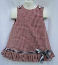 Gingham Alabama Ruffle Dress with Houndstooth Trim and Applique Game Day! Gingham Alabama Ruffle Dress with Houndstooth Trim and Applique Frocks For Girls, Kids Frocks, Dresses Kids Girl, Little Dresses, Kids Outfits, Children Dress, Dress Girl, Children Clothes, Toddler Outfits