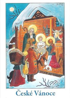 Josef Lada, Christmas card 10 x Czech Republic Christmas Scenes, Kids Christmas, Vintage Christmas, Inspiration For Kids, Christmas Traditions, Favorite Holiday, Holiday Cards, Fairy Tales, Silhouettes