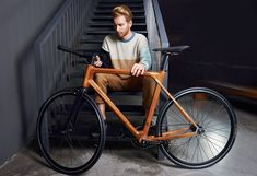 Real-world wooden bike