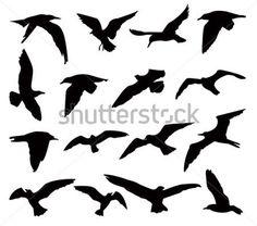 Silhuetas DE Pássaros clip arts - ClipartLogo.com