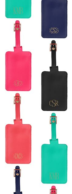 Monogrammed Foil Stamped Luggage Tag | Marleylilly