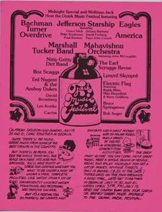 """It was 40-years-ago-today…"" For 3 days, July 19-21, 1974, the Ozark Music Festival was held at the Missouri State Fairgrounds, in Sedalia, MO. It was the largest post-Woodstock rock festival ever..."