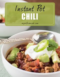 This Instant Pot Chili soars to new heights. Check out the post for the recipe and all of our Instant Pot Chili tips. Then make your own and enjoy!