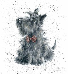 Wrendale Designs by Hannah Dale Scottie Greeting Card - Set of Three Cairn Terrier, Terrier Dogs, Scottish Terriers, West Highland Terrier, Animals And Pets, Cute Animals, Wrendale Designs, Dog Cards, Copic