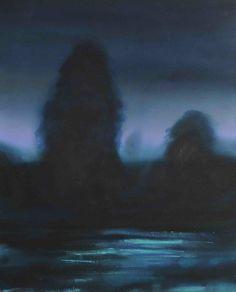 Olivier Masmonteil, Paysage de nuit, 2011, Acrylic on canvas, 100 x 80 cm, 3, Courtesy Galerie Dukan